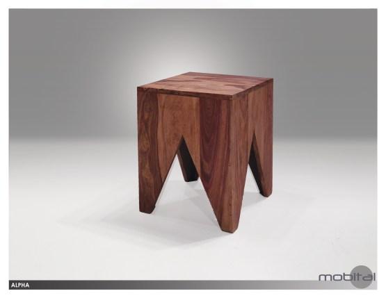 Wishbone 3 Piece Nesting Coffee Table Solid American Walnut