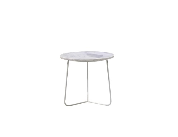 Tower Large End Table High Gloss White