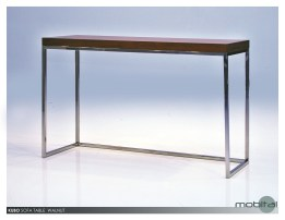 Kube Sofa Table White Volakas Marble with Polished Stainless Steel