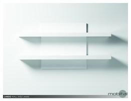 Cargo Wall Shelf High Gloss White
