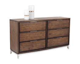 MIRIAM DRESSER – STAINLESS STEEL – SMOKED BROWN