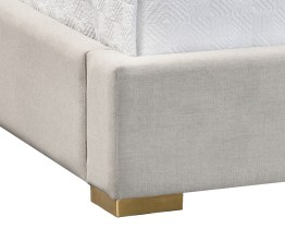 SHONDA BED – QUEEN – YELLOW GOLD – HEMINGWAY SILVER FABRIC