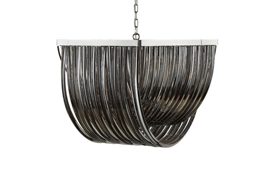 CURIE – CHANDELIER – LARGE – SMOKE GREY GLASS