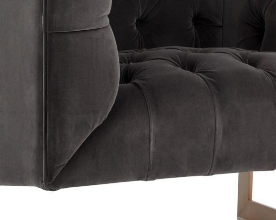 VIPER ARMCHAIR – ANTIQUE BRASS – GIOTTO SHALE GREY FABRIC