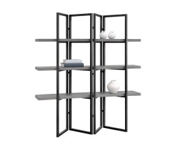 HALSTON BOOKCASE – BLACK – GREY CONCRETE