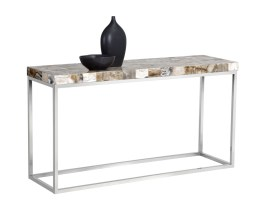 ANGELO CONSOLE TABLE – WHITE ONYX STONE
