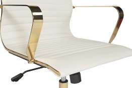 JESSICA OFFICE CHAIR – GOLD – WHITE