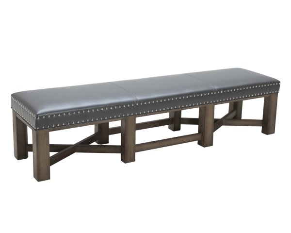 BRIXTON BENCH – GREY LEATHER