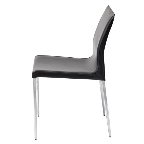 COLTER DINING CHAIR BLACK