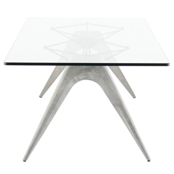 KAHN DINING TABLE CLEAR