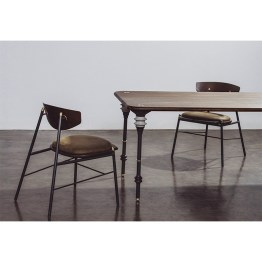 KIMBELL DINING TABLE SMOKED