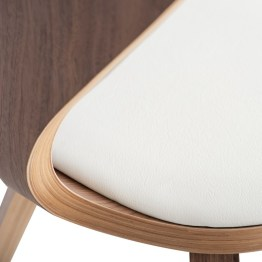 SATINE DINING CHAIR WHITE