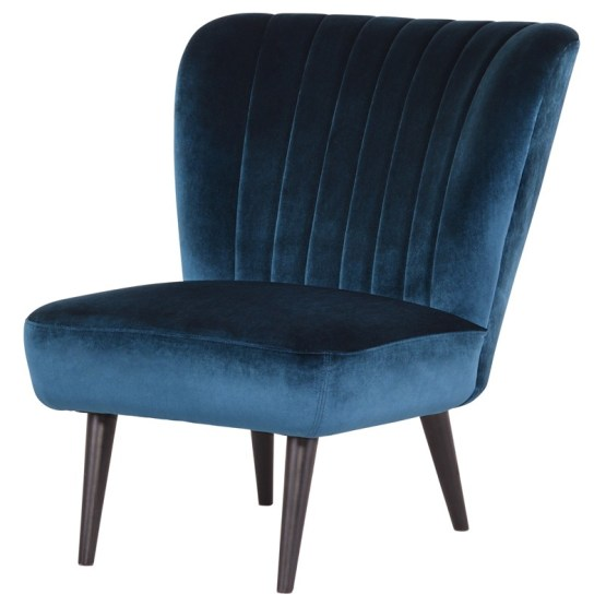 ALICIA OCCASIONAL CHAIR MIDNIGHT BLUE