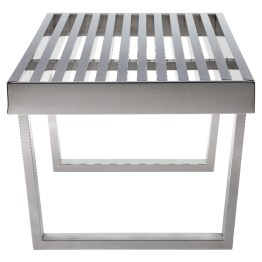 ZOEY BENCH SILVER