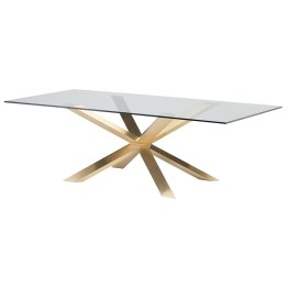 COUTURE DINING TABLE CLEAR