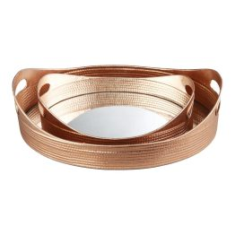Basket Tray Gold Set Of Two