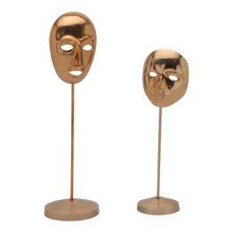 Carnival Masks Rose Gold Set Of 2