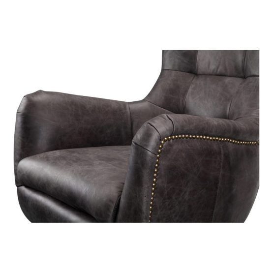 Apsley Leather Swivel Chair