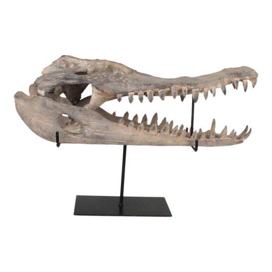 Alligator Sculpture On Stand