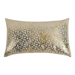 Daisy Rectangular Pillow White And Gold