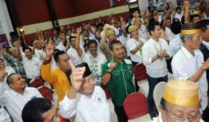 Ratusan Sahabat Pejuang SATUKAN hall pertemuan Hotel Tarakan Plaza.