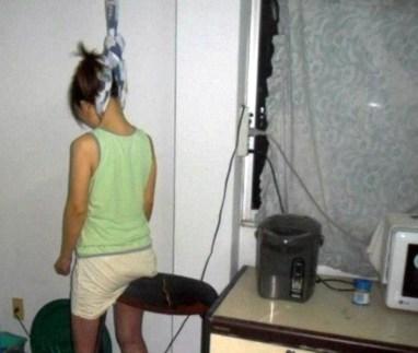 Wanita gantung diri. (Int)