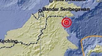 Peta pusat gempa. (int)