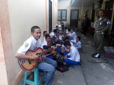 18 pelajar yang diamankan Satpol PP karena bolos sekolah.