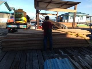 12 kubik kayu ilegal yang tengah diamankan di Mako KSKP Tarakan.