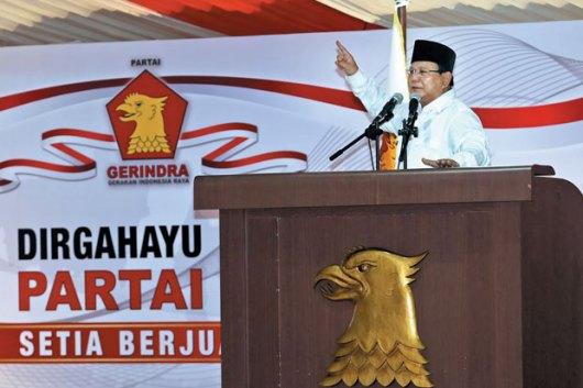 Ketua Dewan Pembina Partai Gerindra Prabowo Subianto