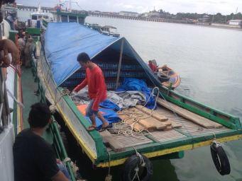 Barang bukti 3000 unggas asal Malaysia yang ditolak masuk ke Tarakan.
