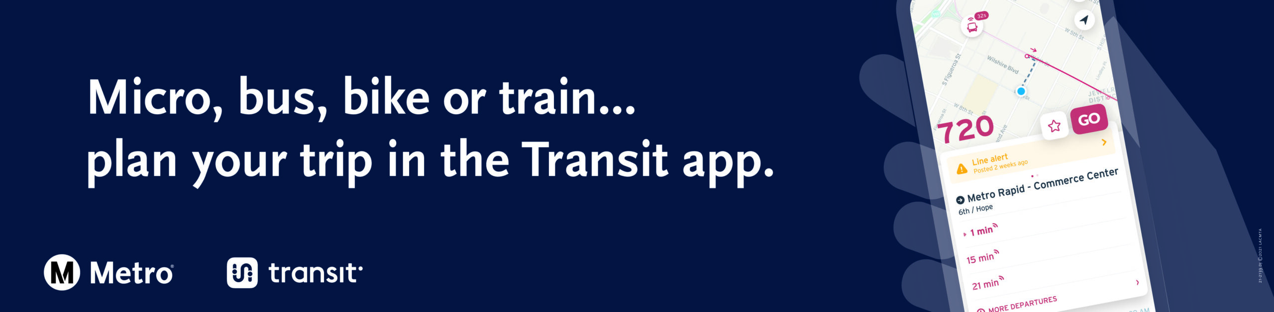 Plan your Metro Micro trip in the Transit app