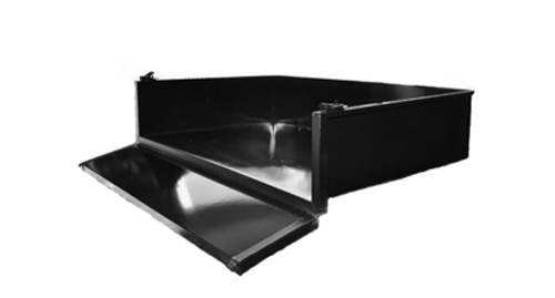Cargo Box - Club Car DS Black Steel cargo box with mounting hardware - $239.00