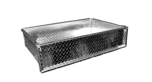 Cargo Box - Club Car Precedent Golf Cart Cargo Box Stainless Aluminum - With Mounting Hardware - $289.00