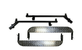 Club Car Precedent Golf Cart Nerf Bars- Black- With Diamond Inlay- $199.00