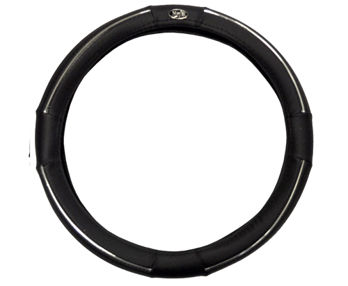 Golf Cart black and chrome steering wheel cover- $19.95