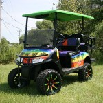 E-Z-GO RXV - Beach Golf Cart with Brush Guard