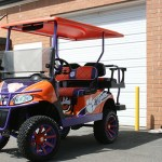 E-Z-GO RXV - Clemson-inspired with brush guard