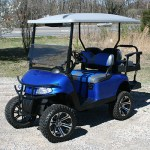 E-Z-GO RXV - Metallic Blue white top golf cart