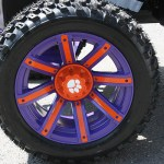 E-Z-GO RXV Wheel Detail - Clemson-inspired golf cart