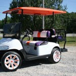 E-Z-GO RXV - white purple and orange accent