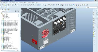 ontwerp van een rack module in 3D