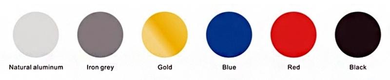Vele kleuren mogelijk bij anodiseren
