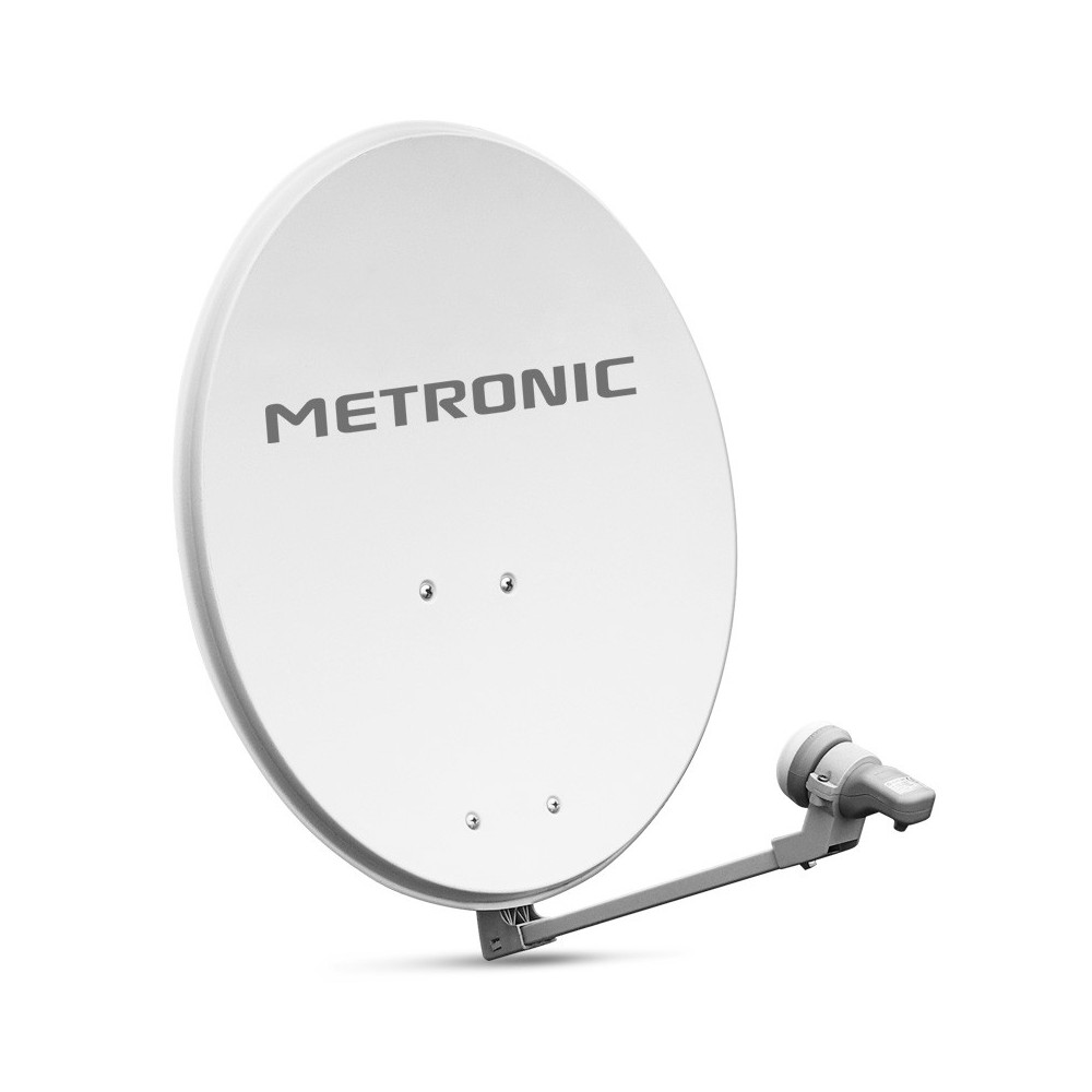 metronic parabole acier 60 cm de diametre lnb blanche eurasis 498150