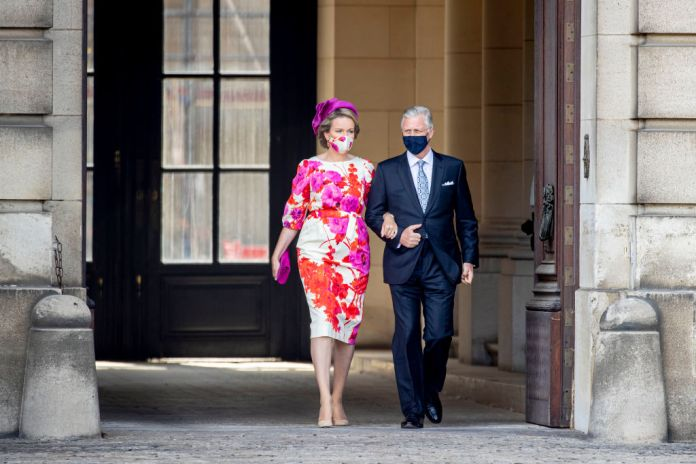 A photo of the king and queen of Belgium during National Day
