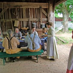 Summer Kitchens Kitchen Throw Rugs Were All The Rage In 1880s Metro Parks Farm Staff Enjoy Lunch Eaves Of Frank Kozarich