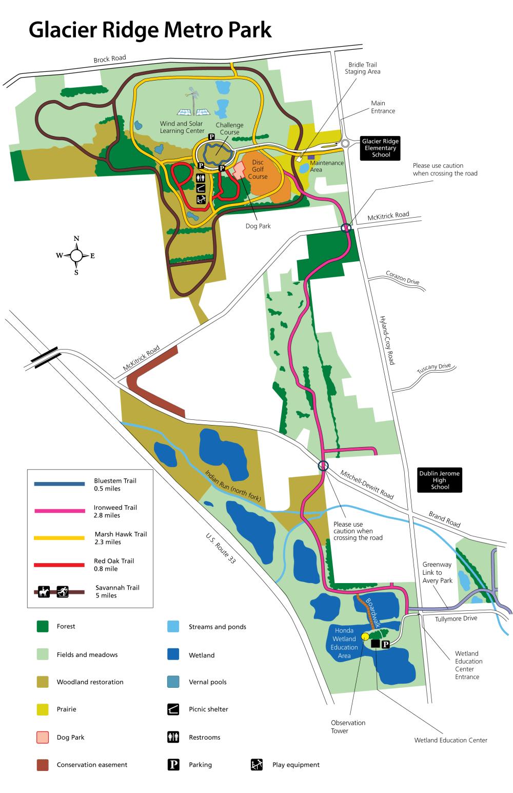 medium resolution of glacier ridge park map