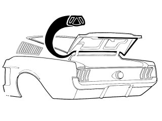 Classic Ford Mustang Trunk Weatherstrip: Parts for 1965