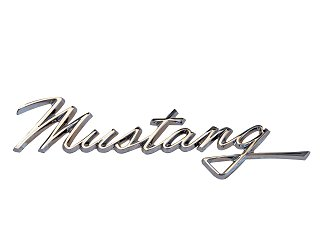 Classic Ford Mustang Fender Mustang Script: Parts for 1965