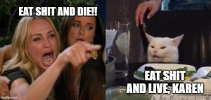 Eat shit, Karen! And why you're seeing a lot of this meme on the internet